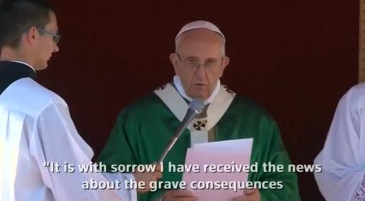 Đức Giáo Hoàng cầu nguyện cho nạn nhân bão Matthew