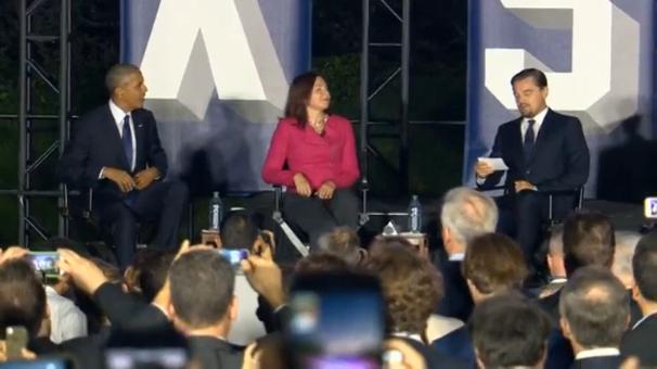 Tổng thống Obama & Leonardo Dicaprio tổ chức thảo luận biến đổi khí hậu