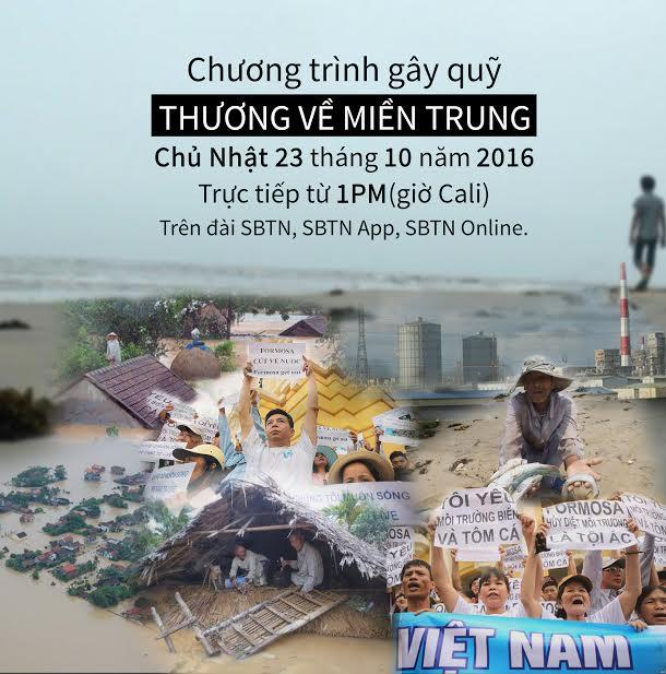 """Thông báo: Đài truyền hình SBTN gây quỹ """"Thương Về Miền Trung"""""""