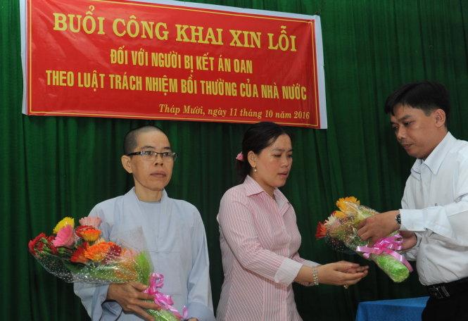 Chính quyền Đồng Tháp xin lỗi hai chị em bị tù oan vì chống cưỡng chế