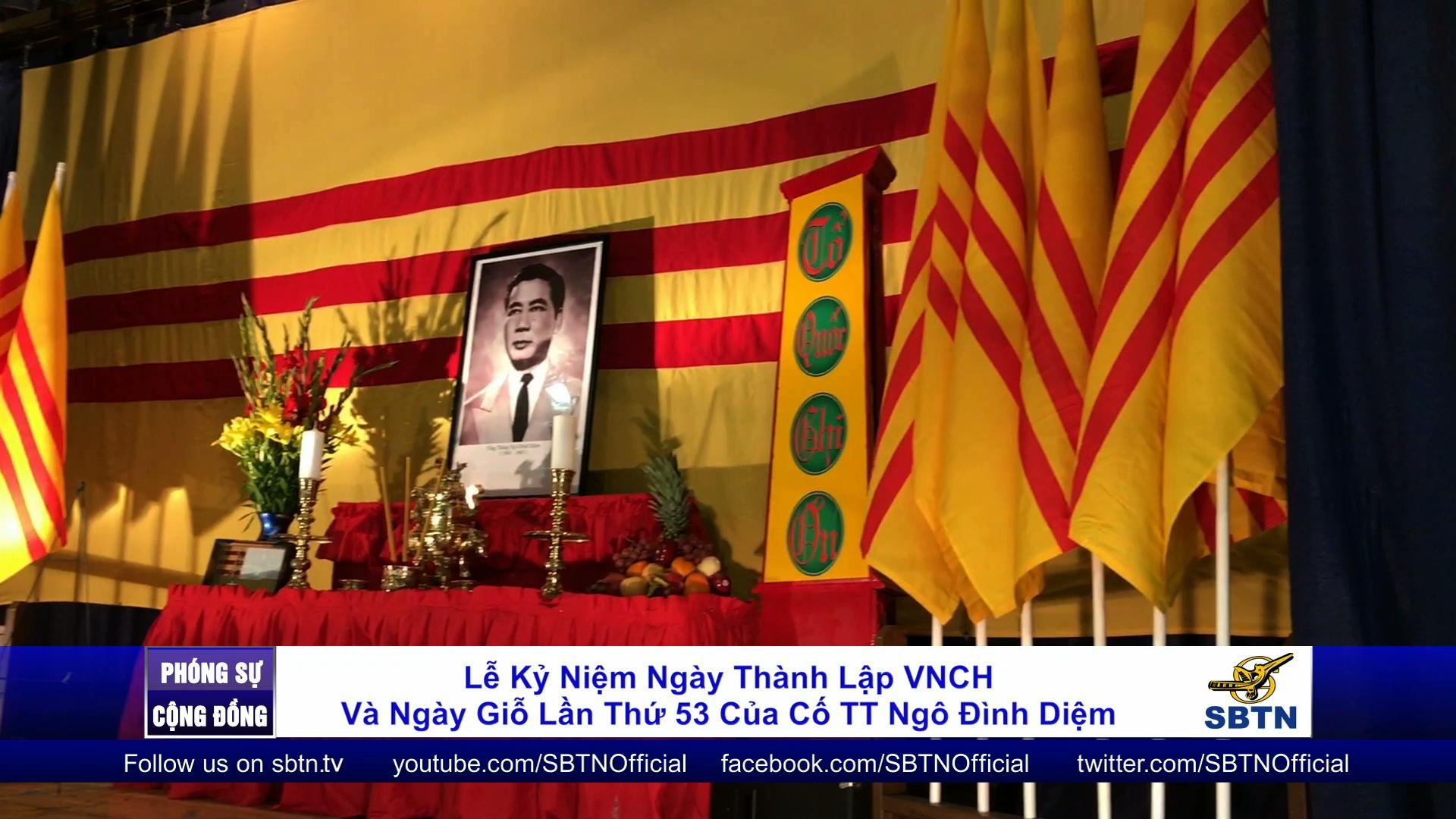 Lễ kỷ niệm Ngày Thành Lập VNCH & giỗ lần thứ 53 cố TT Ngô Đình Diệm tại Dorchester
