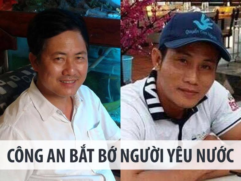 Hai nhà hoạt động Lưu Văn Vịnh và Nguyễn Văn Đức Độ bị buộc tội 'lật đổ chính quyền'