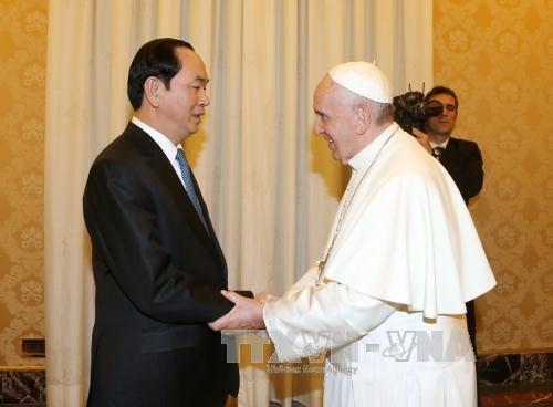 Đức Giáo Hoàng tiếp chủ tịch nước CSVN, không hứa hẹn tái lập bang giao
