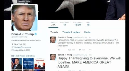 Donald Trump nhắn tin thuyết phục công ty Carrier giữ lại việc làm tại Hoa Kỳ