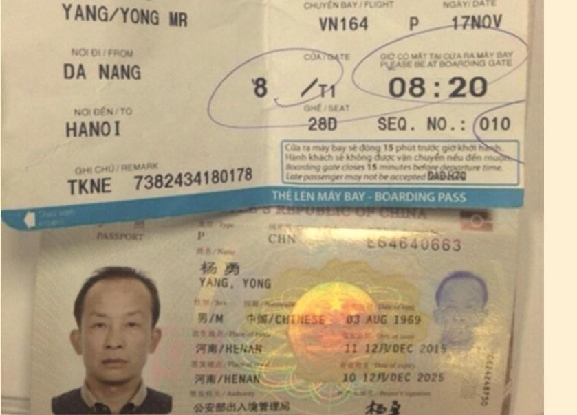 Khách Trung Cộng lại ăn cắp trên máy bay tại Đà Nẵng