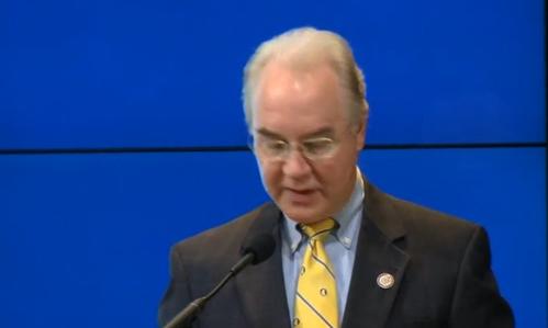 Tom Price mua bán trao đổi cổ phiếu y tế ở Hạ Viện