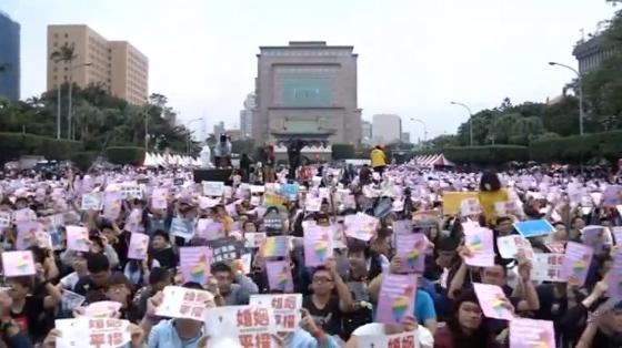 Người ủng hộ đồng tính tổ chức biểu tình ở Đài Loan