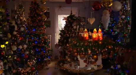Đôi vợ chồng người Đức trang trí 100 cây thông cho mùa Giáng Sinh