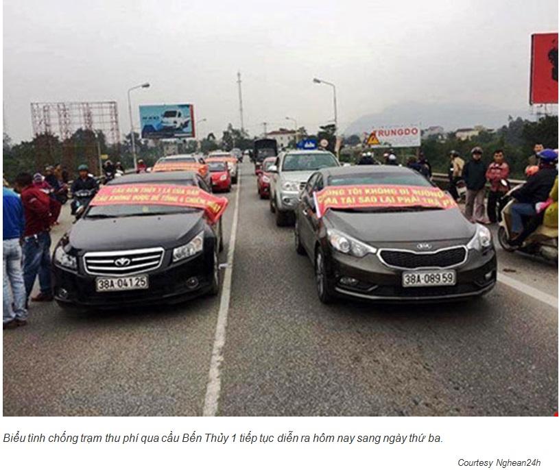 Dân chặn cầu Bến Thủy, của dân phải trả lại cho dân (JB Nguyễn Hữu Vinh)