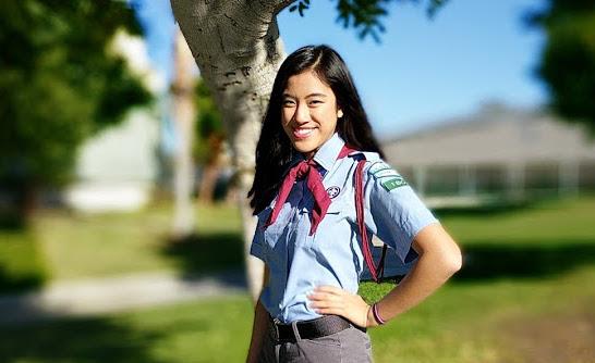 Nữ hướng đạo sinh gốc Việt 16 tuổi Phạm Mê Linh muốn dạy tiếng Việt qua các bài hát