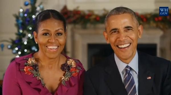 Tổng thống Obama & đệ nhất phu nhân chúc người Mỹ Giáng Sinh hạnh phúc