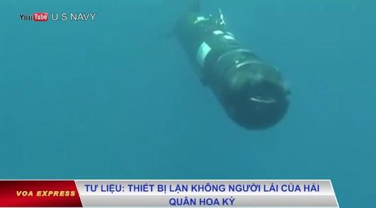 Trung Cộng hứa trả lại drone dưới nước của hải quân Hoa Kỳ