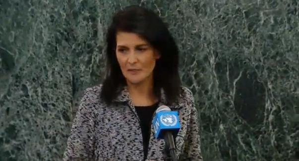 Đại sứ Mỹ tại Liên Hiệp Quốc Nikki Haley bắt đầu ngày làm việc đầu tiên