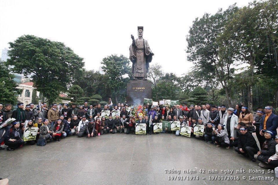 Các tổ chức xã hội dân sự kêu gọi người dân tưởng niệm ngày mất Hoàng Sa