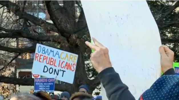 Biểu tình khắp Hoa Kỳ phản đối việc xóa bỏ Obamacare