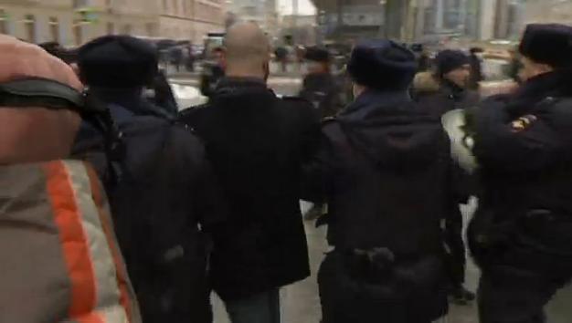 Cảnh sát Moscow bắt 40 thành viên của nhóm đối lập biểu tình đòi thả các nhà Dân Chủ