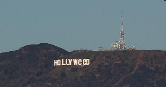 Dòng chữ Hollywood bị phá hoại