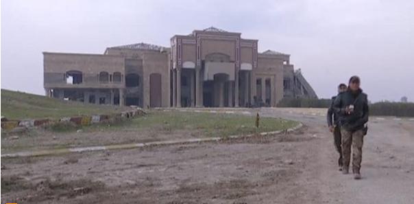 Dinh tổng thống Saddam ở Mosul bị ISIS phá huỷ hoàn toàn