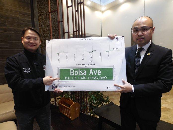 Đại lộ Bolsa ở khu Little Saigon sẽ có đoạn mang thêm tên Trần Hưng Đạo
