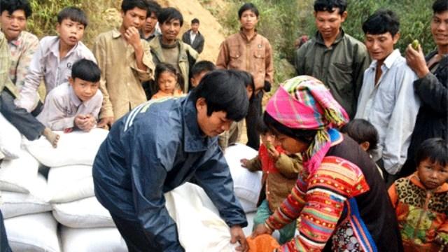 Đến ngày 3/1 đã có 12 tỉnh xin cấp gạo cứu đói