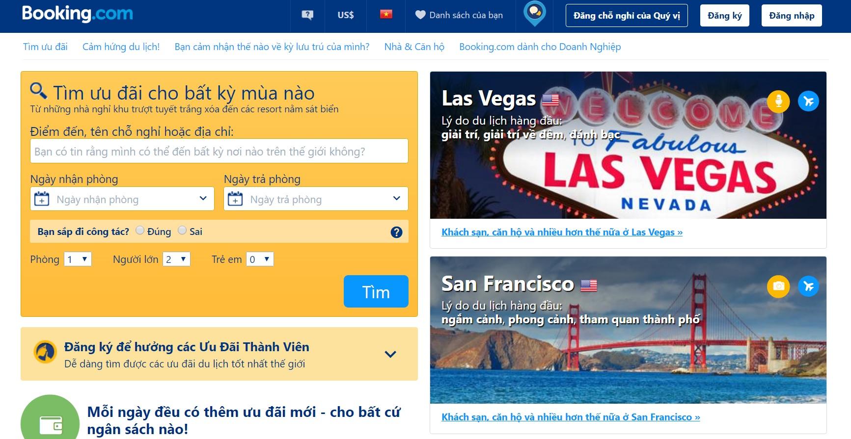 Nhiều trang mạng du lịch kiếm hàng trăm triệu USD ở Việt Nam mà không đóng thuế