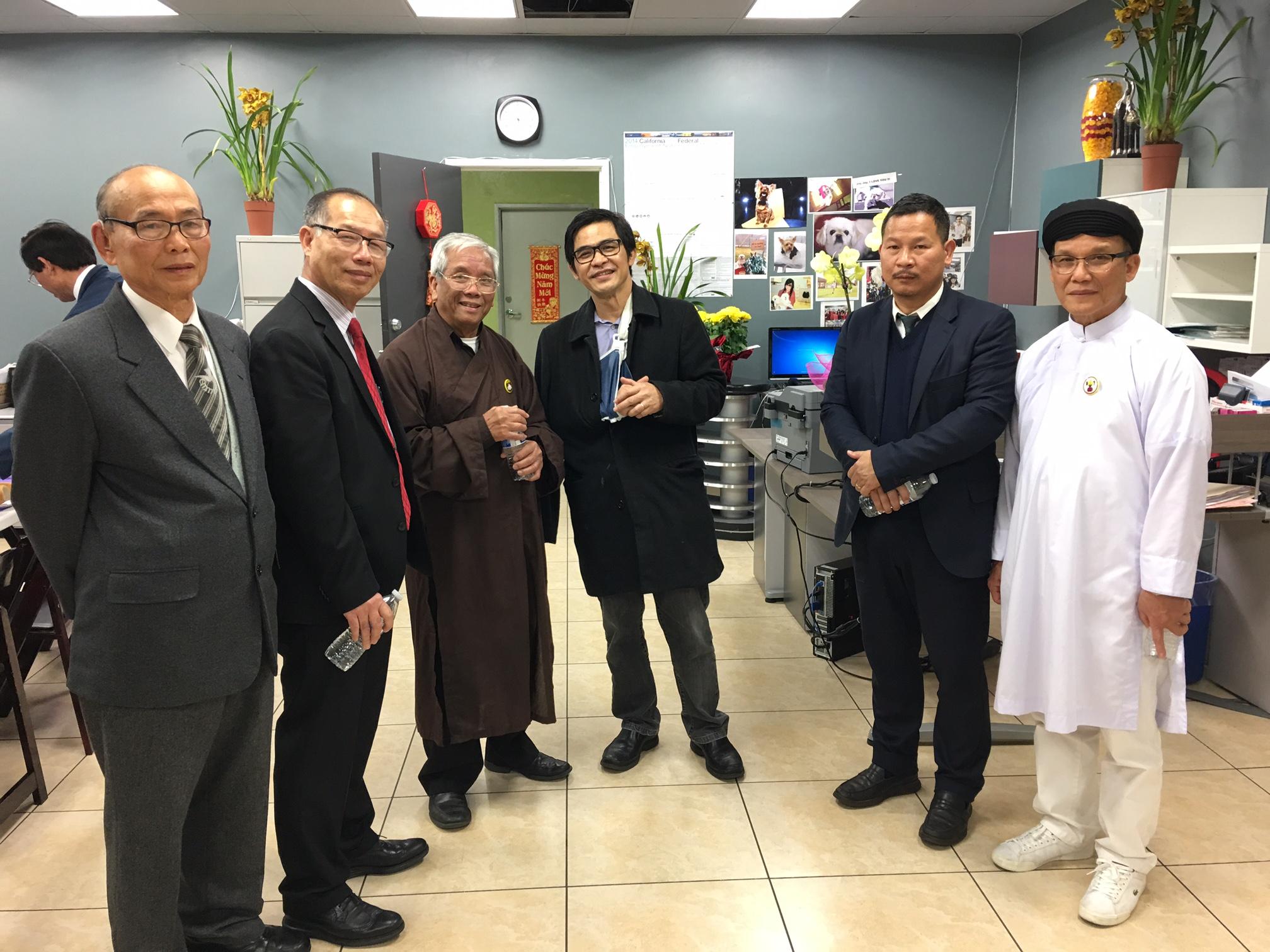 Hội Đồng Liên Tôn chúc tết SBTN và quí đồng hương