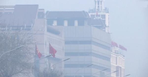 Khói mù trời trong ngày đầu năm tại Trung Cộng