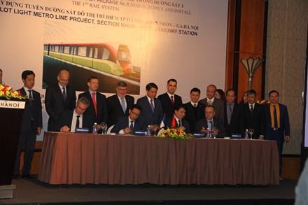 Công ty Pháp giành được hợp đồng  265 triệu Euro cung cấp thiết bị đường Metro tại Hà Nội