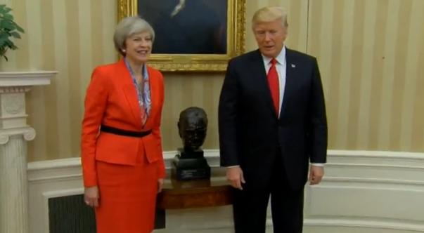 Nato và nước Nga là chủ đề hàng đầu trong cuộc gặp giữa ông Trump với bà May