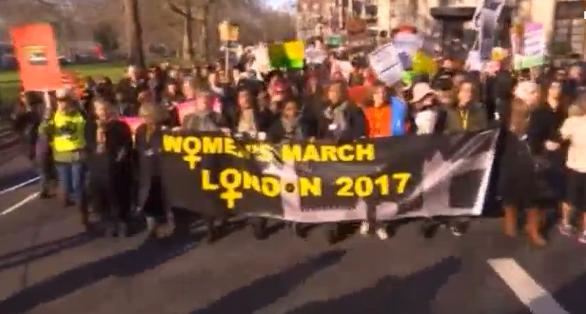 Phụ nữ Luân Đôn tuần hành chống Trump