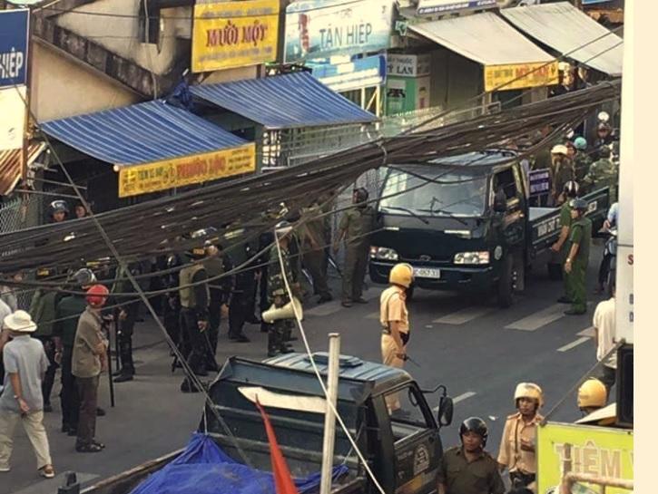Dân phản đối di dời chợ Tân Hiệp Kiên Giang ngay dịp trước Tết