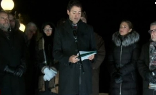 Thủ Tướng Canada tuyên bố ủng hộ người Hồi giáo Canada sau vụ nổ súng tại Quebec
