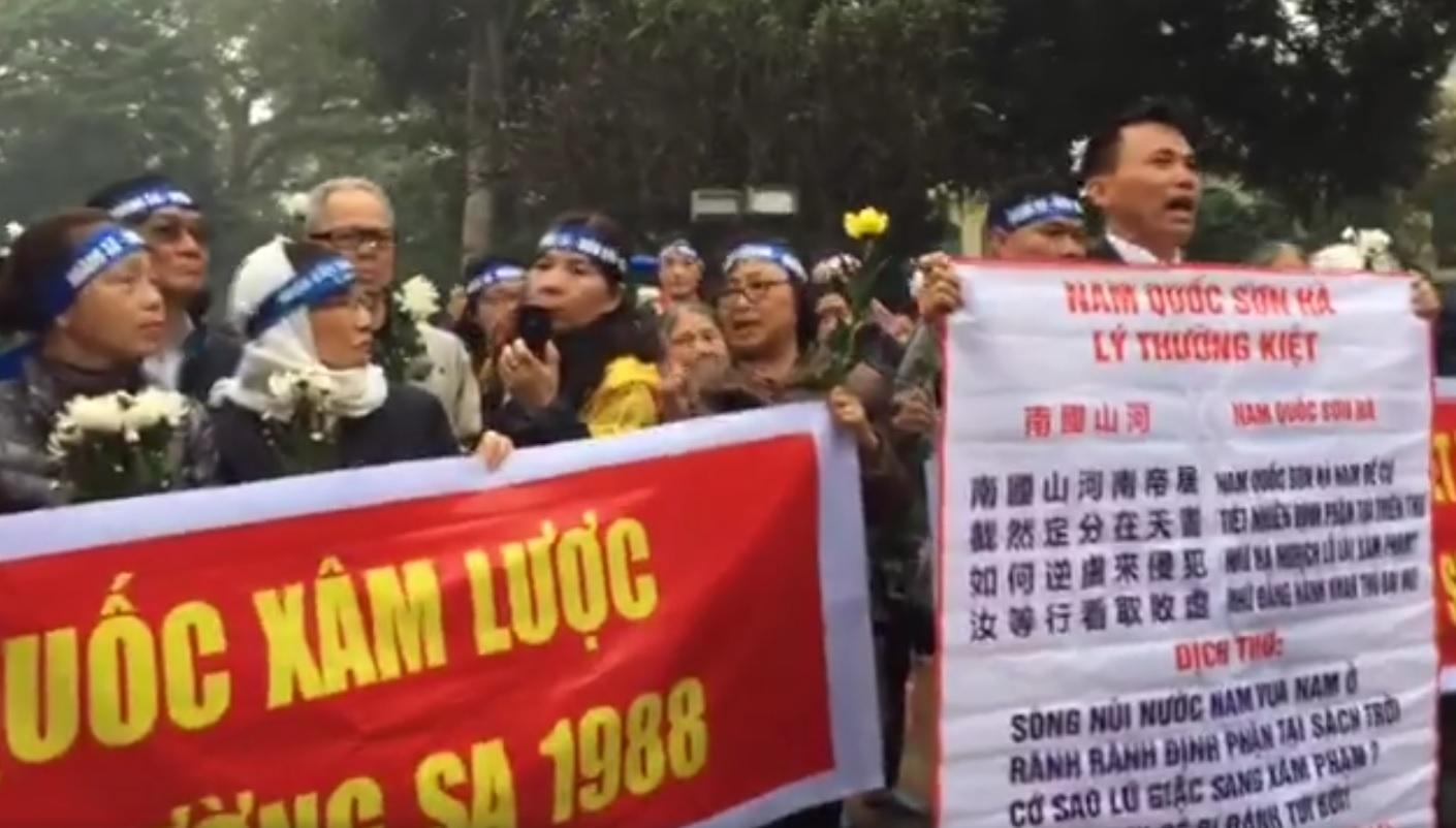 Những hình ảnh đầu tiên về lễ tưởng niệm tử sĩ HoàngSa tại Việt Nam 19/01/2017