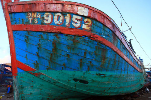 Đà Nẵng trưng bày tàu cà bị Trung Cộng đâm chìm ở Hoàng Sa