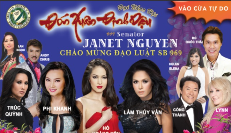 TNS Janet Nguyễn thông báo tổ chức đại nhạc hội đón Xuân Đinh Dậu và mừng Luật Bánh Chưng