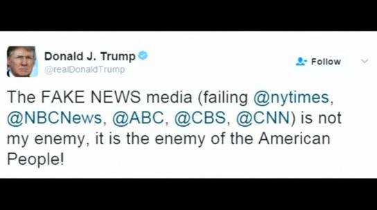 Tổng Thống Donald Trump gọi truyền thông là kẻ thù của nước Mỹ