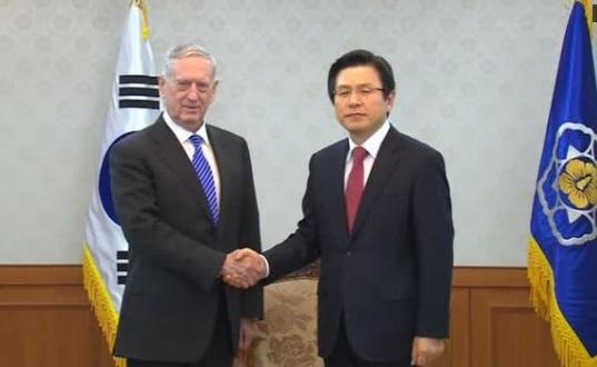 Bộ Trưởng Quốc Phòng Hoa Kỳ gặp gỡ Thủ Tướng Nam Hàn