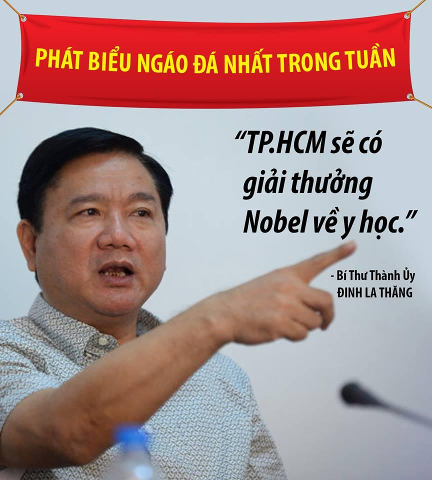 Ông Đinh La Thăng muốn Sài Gòn giành giải Nobel y học