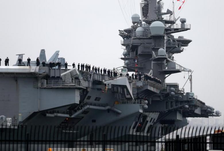 Hàng không mẫu hạm USS Carl Vinson bắt đầu tuần tiễu Biển Đông