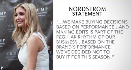 Nordstrom ngừng mua bộ sưu tập thời trang của Ivanka Trump