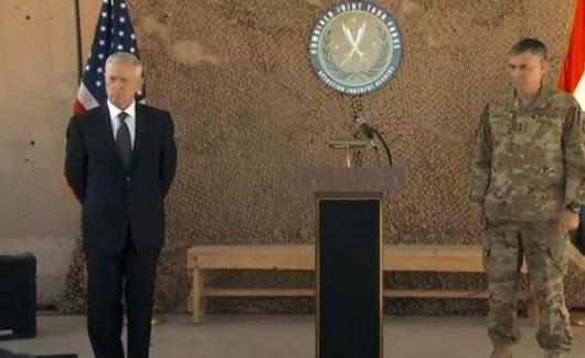 Bộ Trưởng Bộ Quốc Phòng James Mattis ca ngợi nỗ lực của liên quân ở Iraq