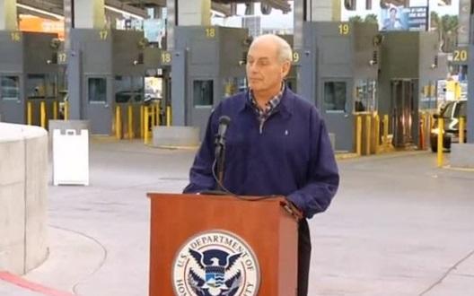 Bộ Trưởng John Kelly viếng thăm nhân viên tuần tra biên giới San Diego