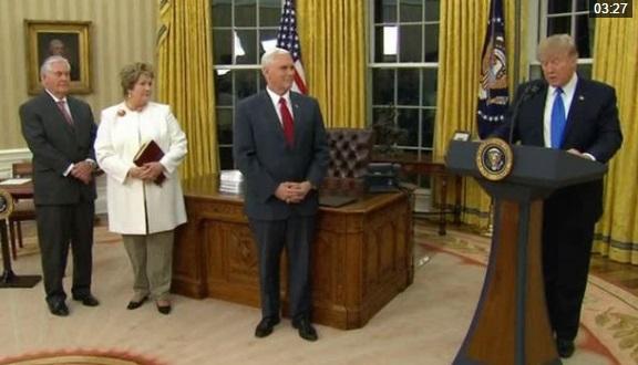 Ông Rex Tillerson tuyên thệ nhậm chức Ngoại Trưởng Hoa Kỳ
