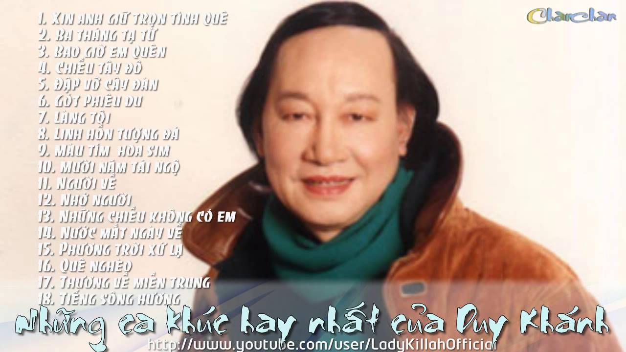 Ca nhạc sĩ Duy Khánh: một giọng hát độc đáo – những ca khúc để đời