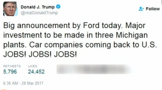Ford công bố đầu tư vào ba nhà máy ở Michigan