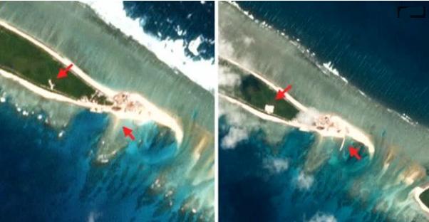 Hoa Kỳ báo động Trung Cộng hoàn tất phần lớn công trình xây dựng căn cứ quân sự tại biển Đông