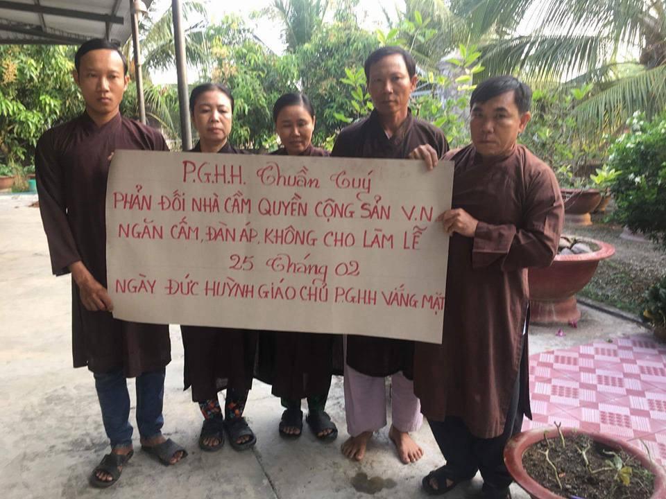Phật Giáo Hoà Hảo Thuần Tuý bị nhà cầm quyền khủng bố nhân ngày giỗ đức Huỳnh Giáo Chủ