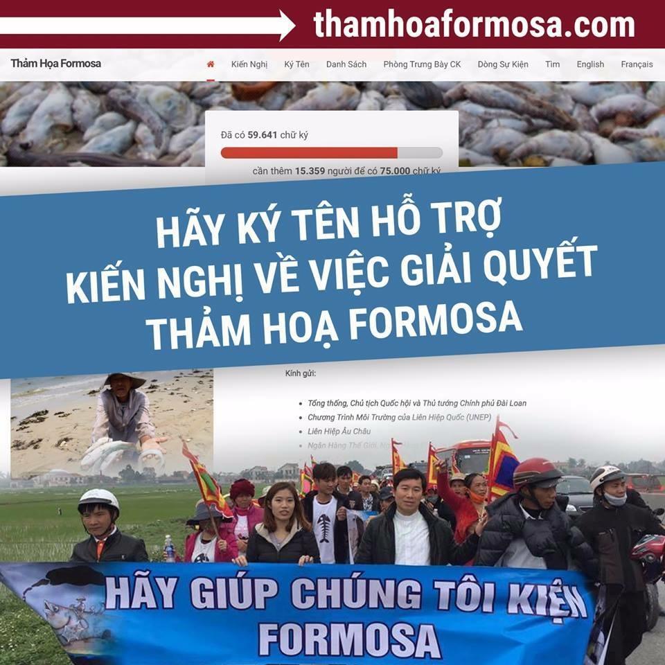 Giáo phận Vinh kêu gọi ký tên thỉnh nguyện thư về việc giải quyết thảm họa Formosa