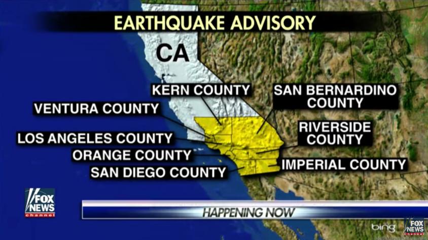 California có thể bị động đất lên đến 7.4 độ Richter
