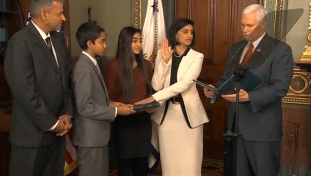 Seema Verma tuyên thệ làm giám đốc trung tâm  Medicare và dịch vụ Medicaid